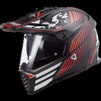 Шлем LS2 MX436 PIONEER EVO SATURN MATT BLACK RED