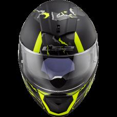 Шлем LS2 FF390 BREAKER EVO FELINE MAT BLACK H-V YELLOW