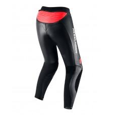 Штаны кожаные REBELHORN REBEL LADY BLACK/FLO RED/WHITE