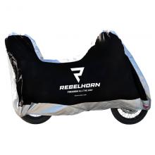 Чехол на мотоцикл Rebelhorn Cover Top Box Black/Silver размер S