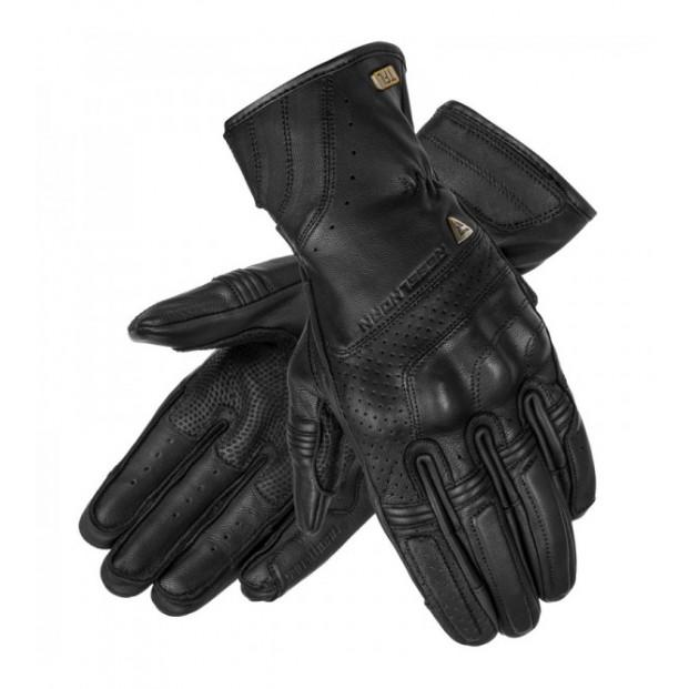 Перчатки кожаные REBELHORN RUNNER TFL PERFOROWANE BLACK