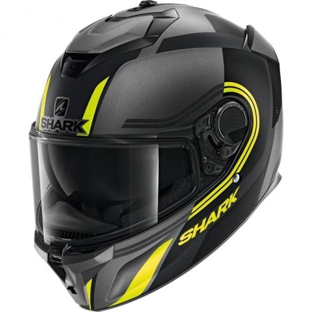 Шлем SHARK SPARTAN GT TRACKER Mat Anthracite Black Yellow