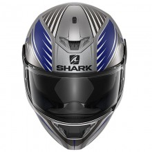 Шлем SHARK SKWAL 2 HALLDER Mat Anthracite Blue Anthracite