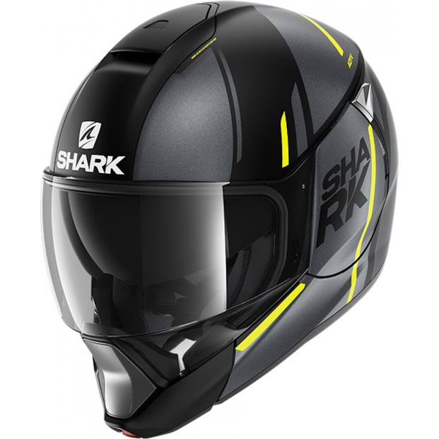 Шлем SHARK EVOJET VYDA MAT Black Anthracite Yellow