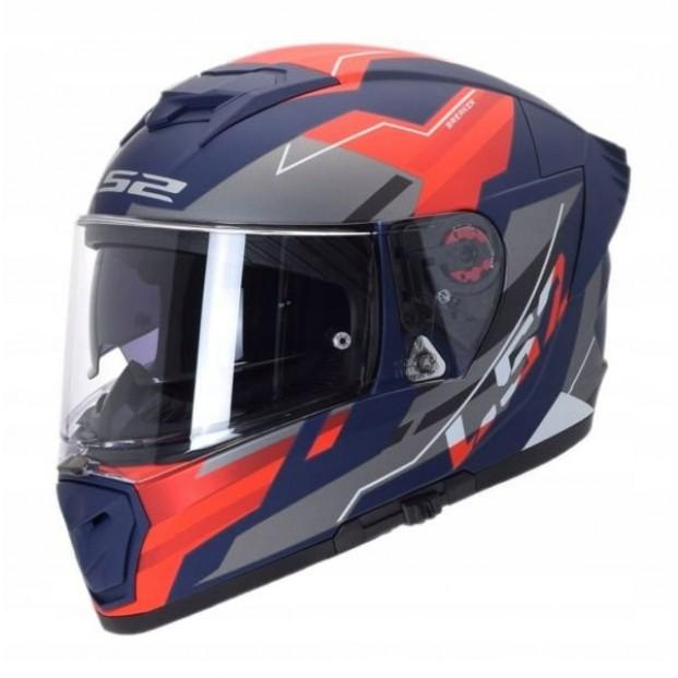 Шлем LS2 FF390 BREAKER EVO BETA MATT RED BLUE
