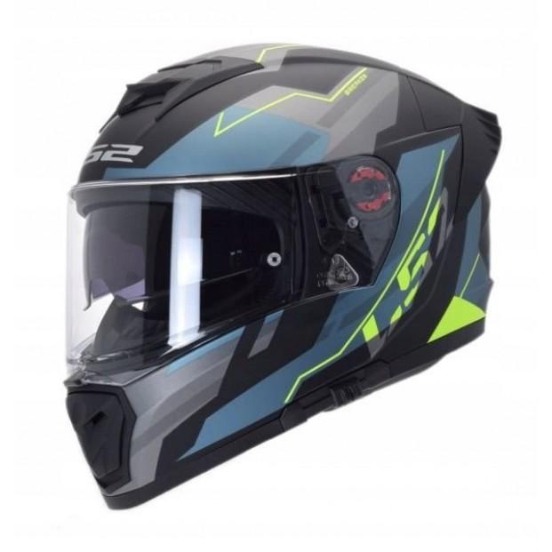 Шлем LS2 FF390 BREAKER EVO BETA MATT COBALT H-V YELLOW