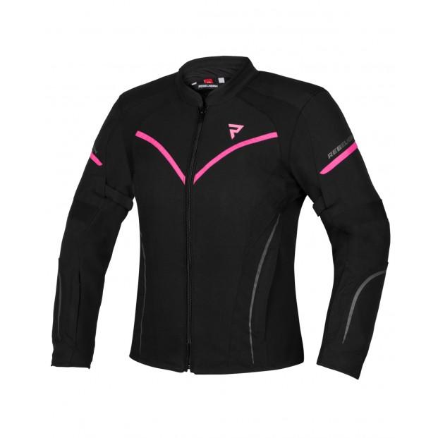 Куртка женская текстильная REBELHORN LUNA LADY BLACK/FLO PINK