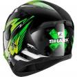Шлем SHARK D-SKWAL 2 PENXA Black Green Yellow