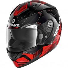 Шлем SHARK RIDILL 1.2 MECCA Black Red Silver