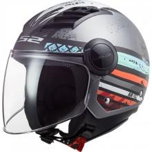 Шлем LS2 OF562 AIRFLOW RONNIE MATT SILVER BLUE