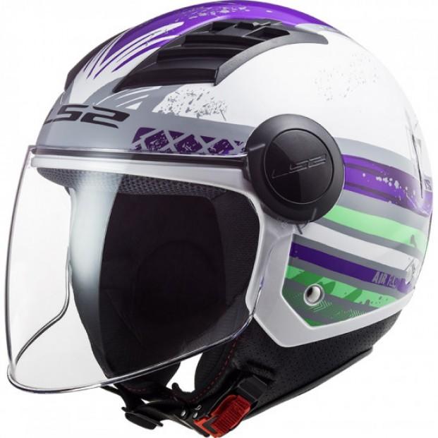 Шлем LS2 OF562 AIRFLOW RONNIE TITANIUM VIOLET