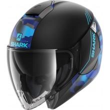 Шлем SHARK CITYCRUISER GENOM Mat Black Blue Blue