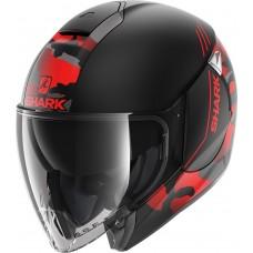 Шлем SHARK CITYCRUISER GENOM Mat Black Red Anthracite