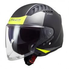 Шлем LS2 OF600 COPTER URBANE MATT BLACK H-V YEL