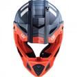 Шлем LS2 MX437 FAST EVO XCODE MATT ORANGE BLUE