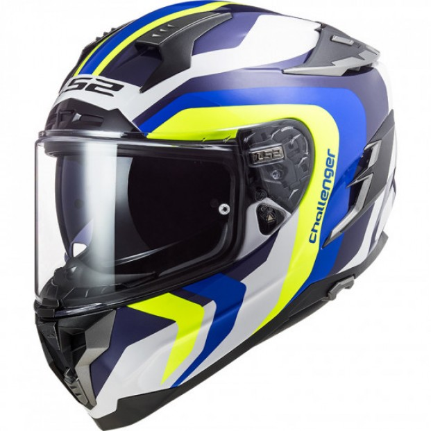 Шлем LS2 FF327 CHALLENGER GALACTIC WHITE BLUE