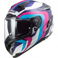 Шлем LS2 FF327 CHALLENGER GALACTIC WH. BL. PINK