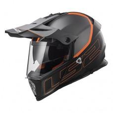 Шлем LS2 MX436 Pioneer Element Matt Titanium Black