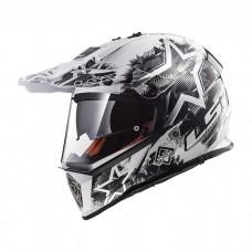 Шлем LS2 MX436 Pioneer Chaos White Black
