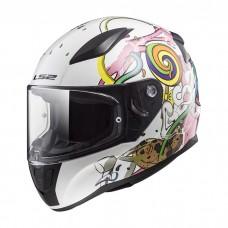 Шлем детский LS2 FF353J RAPID MINI CRAZY POP White Pink