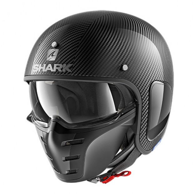 Шлем SHARK S-DRAK CARBON SKIN сarbon silver black