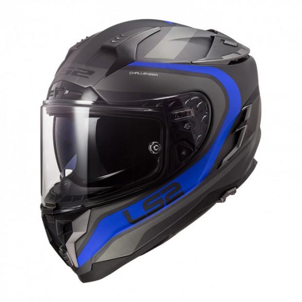 Шлем LS2 FF327 Challenger Fusion Matt Titanium Blue