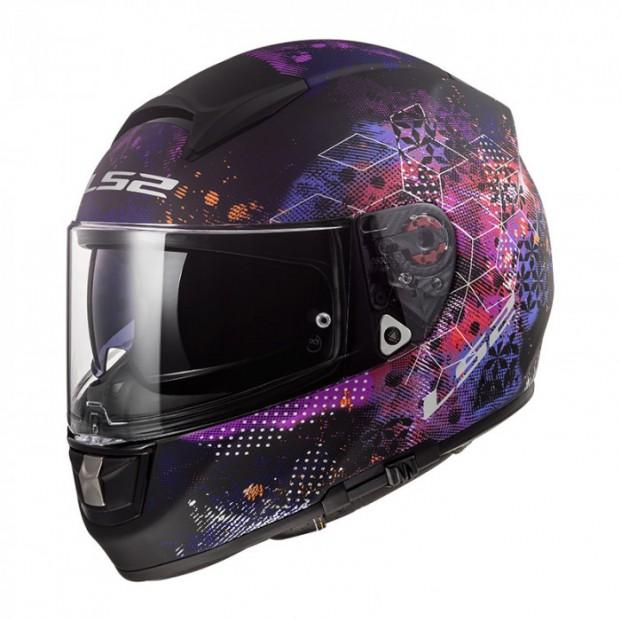 Шлем LS2 FF397 Vector HPFC Evo Cosmos Matt Black Pink