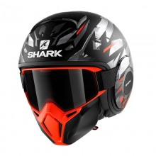 Шлем Shark Street-Drak Kanhji mat black orange silver r.S