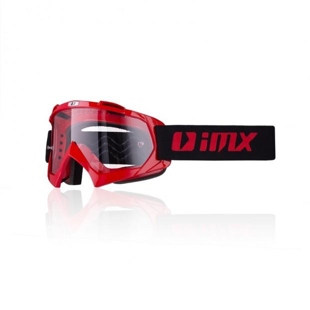 Очки кросс-эндуро IMX MUD red (прозрачная линза)