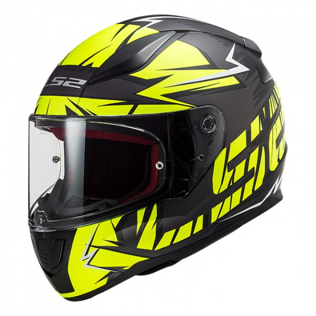 Шлем LS2 FF353 Rapid Chromo Matt Black H-V Yellow