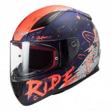 Шлем LS2 FF353 Rapid Naughty Matt Blue Fluo Orange