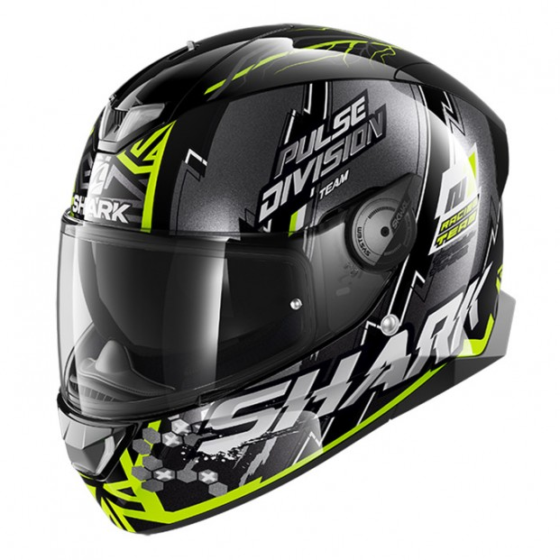 Шлем Shark Skwal 2 Noxxys Black Yellow Silver