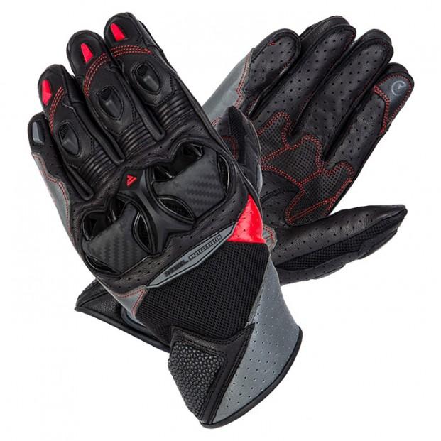 Перчатки Rebelhorn Flux II Black Grey Flo Red