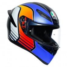 Шлем AGV K1 Power Matt Dark Blue Orange White