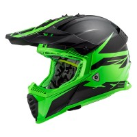 Шлем LS2 MX437 Fast Evo Roar Matt Black Green