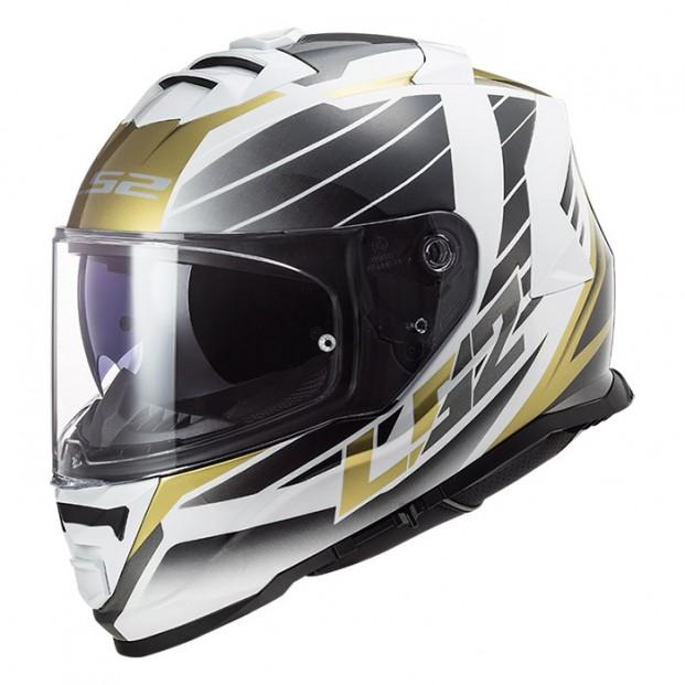 Шлем LS2 FF800 Storm Nerve White Antique Gold