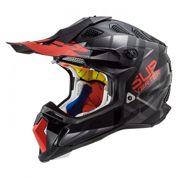 Шлем LS2 MX470 Subverter Troop Matt Black Red