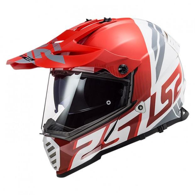 Шлем LS2 MX436 Pioneer Evo Evolve Red White