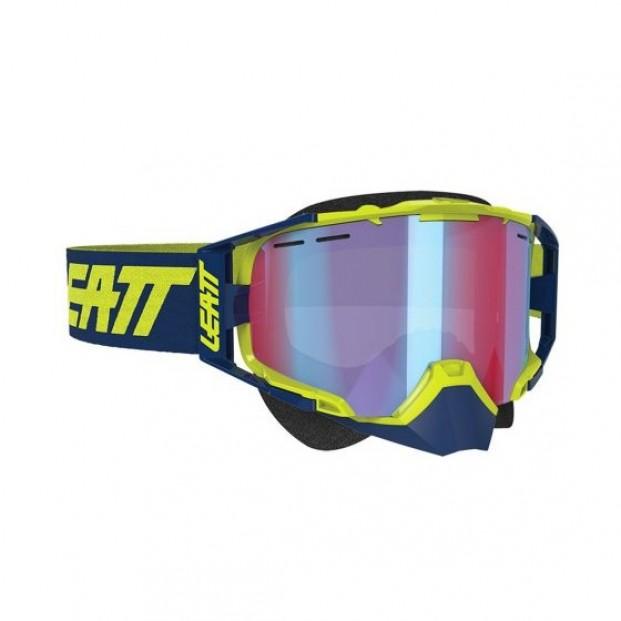 Очки Leatt Velocity 6.5 SNX Goggle Iriz Ink/Lime Blue