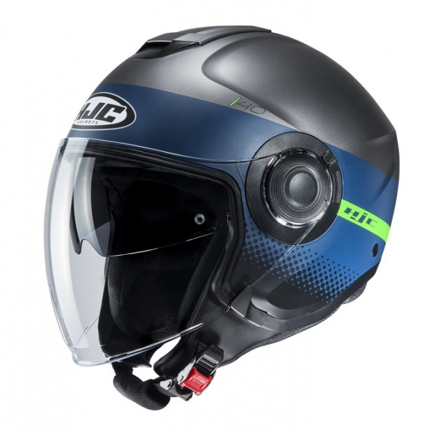 Шлем HJC I40 UNOVA Black/Blue MC4HSF