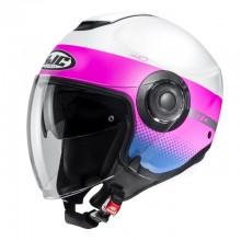 Шлем HJC I40 UNOVA White/Pink MC8SF