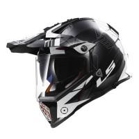 Шлем LS2 MX436 Pioneer Trigger Black White Titanium