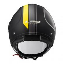 Шлем LS2 OF562 Airflow Metropolis Matt Black H-V Yellow