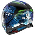 Шлем SHARK SKWAL 2 SWITCH RIDERS 2 Black/Blue/Green r.M