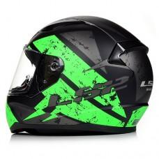 Шлем LS2 FF353 Rapid Deadbolt Black Green