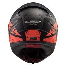 Шлем LS2 FF353 Rapid Deadbolt Matt Black Orange