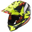Шлем LS2 MX437 Fast Volt Black Yellow Organe