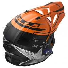 Шлем LS2 MX437 Fast Core Matt Black Gloss Orange