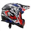 Шлем детский LS2 MX437J Fast Mini Strong White Red Blue