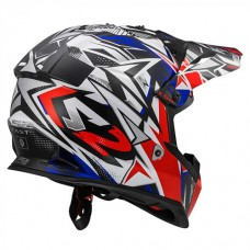 Шлем детский LS2 MX437J Fast Mini Strong White Red Blue